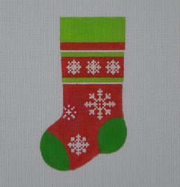 MS11 Snowflake Mini Stocking