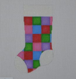MS12 Quilt Square Mini Stocking