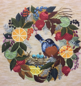 Melissa Prince Designs  - B370 - Robin in Wreath