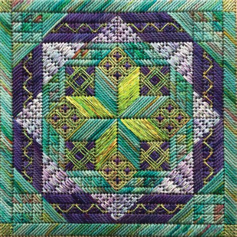 Foxwood Crossings Vibrant Star Counted Canvas Kit