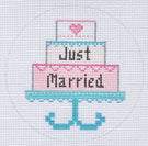 ZIA-75 Just Married Cake Ornament 18M
