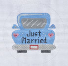 ZIA-76 Just Married Car Ornament 18M
