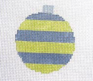 Wide Striped Bauble