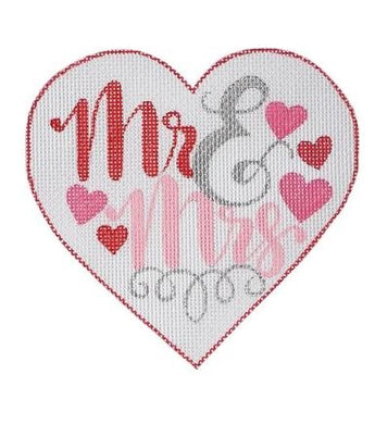 APWE04: Mr & Mrs Heart Ornament 18M