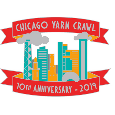 Yarn Crawl 10th Anniversary Pin