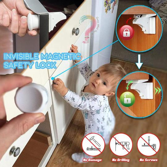 Invisible Magnetic Safety Lock,One six fold, buy two get one free