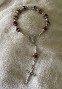Red rose/ flower Clay Chaplet