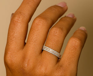Aurora Diamond Eternity Band