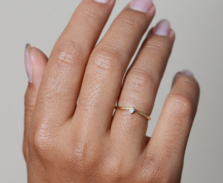 Aurora Dainty Diamond Ring