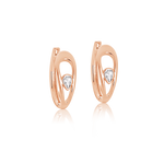 Amélie Diamond Hoop Earrings