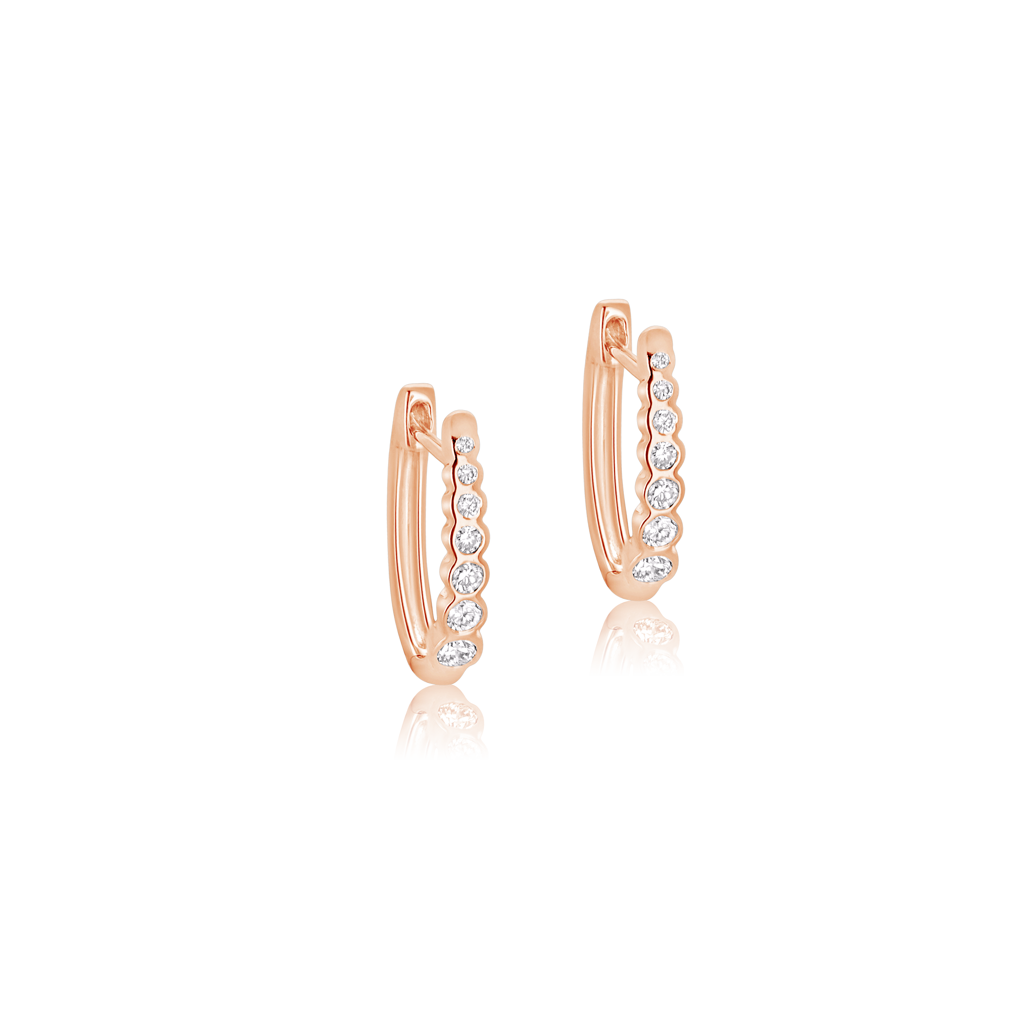 Aurora Diamond Hoop Earrings