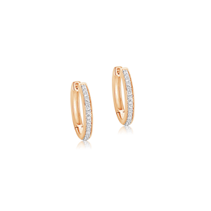 Gabriela Diamond Hoop Earrings