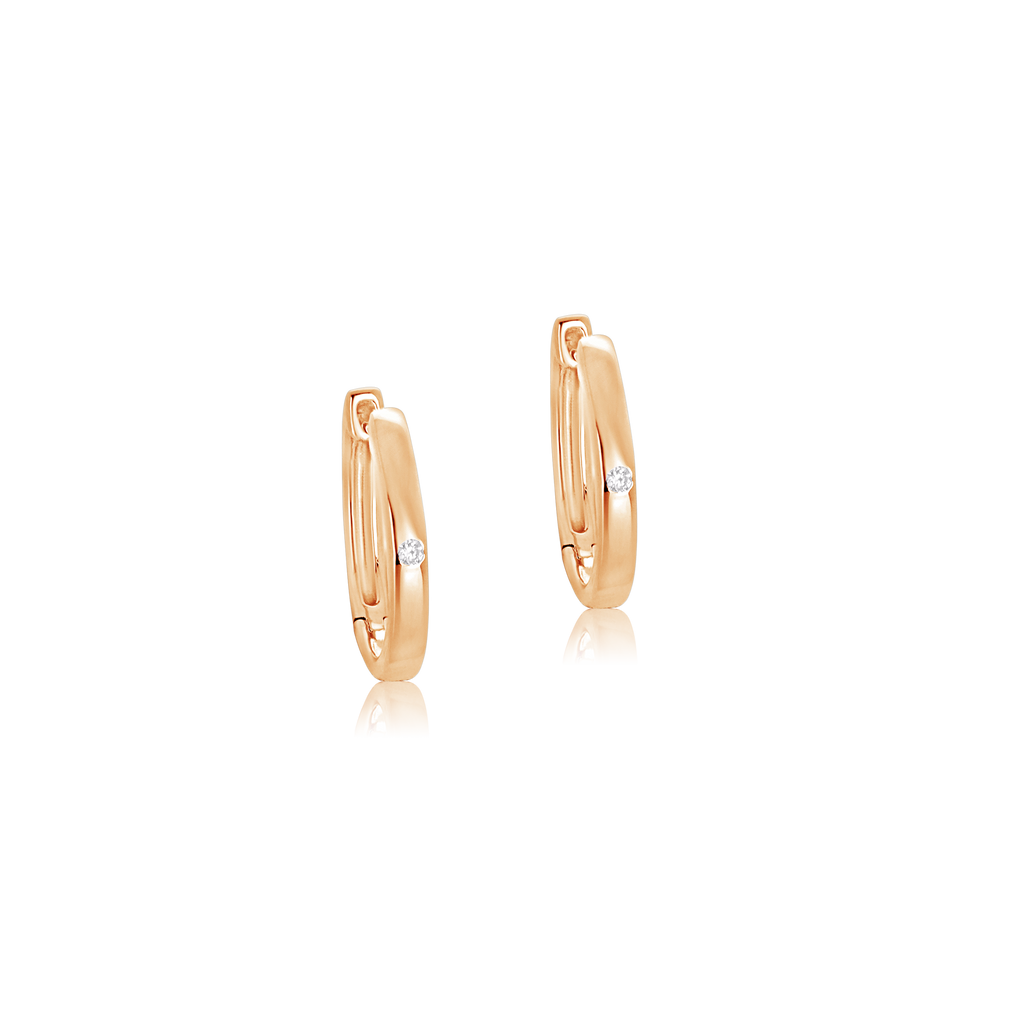 Olivia Diamond Hoop Earrings