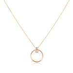 Olivia Diamond Hoop Necklace