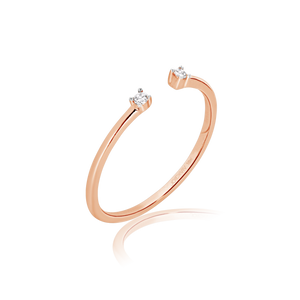 Gabriela Double Tipped Diamond Ring