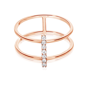 Olivia Bridged Diamond Ring