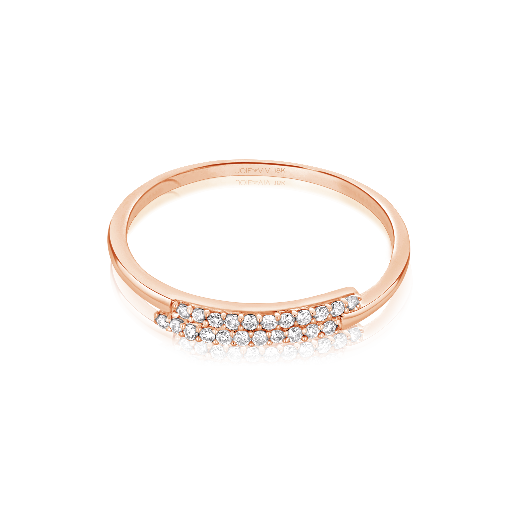Olivia Twin Band Diamond Ring