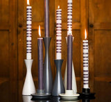 Tall Gunmetal Grey Wooden Candle Holder