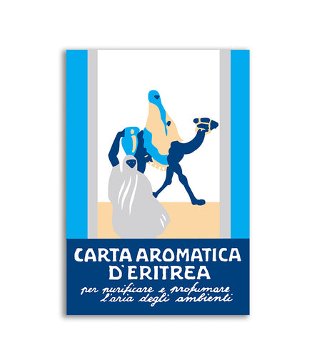 Blue Carta Aromatica d'Eritrea - Blue Aromatic Paper of Eritrea