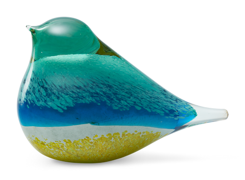 Atlas glass bird - Blue