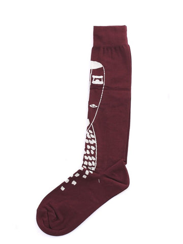 Kiasmo + Antonio Marras Socks - Bordeaux