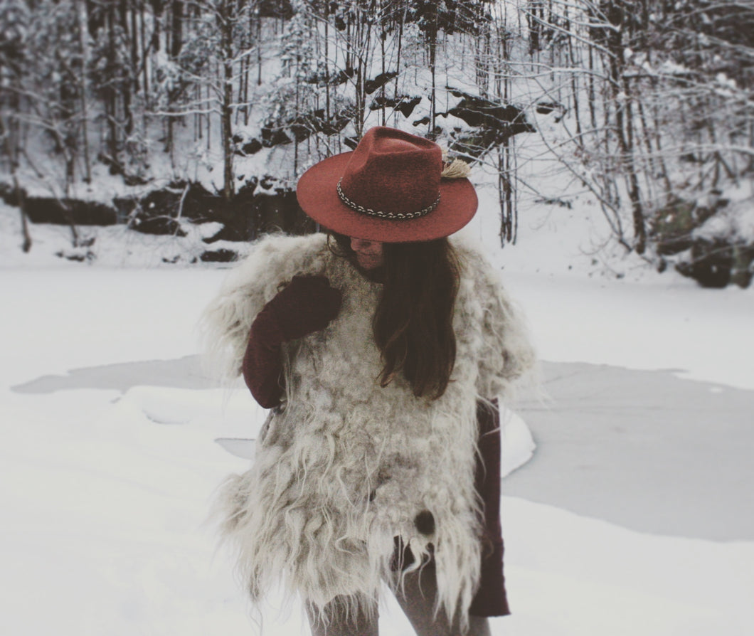 Felted Pelt Poncho
