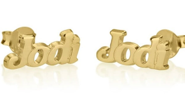 Dainty Name Earrings