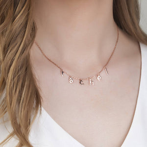Drop Necklace- Print Font