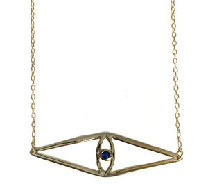 Geo Evil Eye Necklace