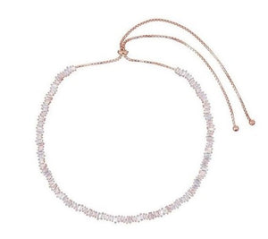 CZ Adjustable Baguette Choker