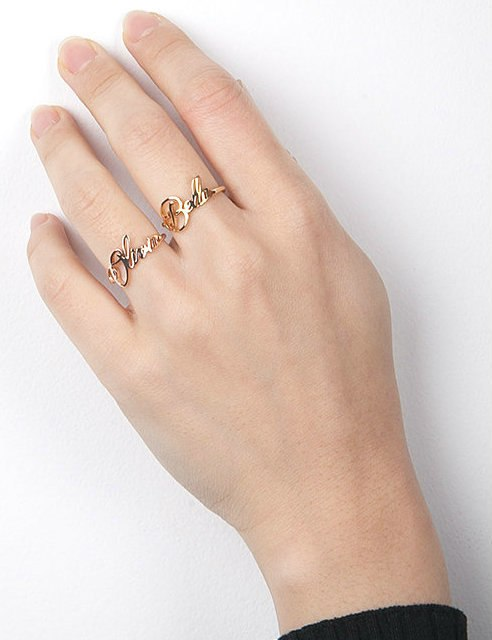 Script Personalized Ring