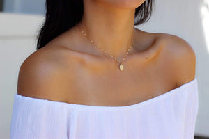 Dainty Mary Necklace