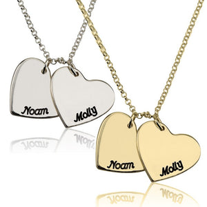 Two Hearts Personalized Necklace