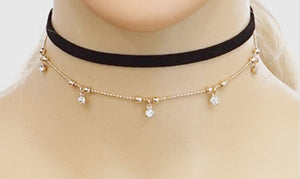 Crystal Layered Drop Choker