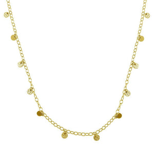 Multi-Way Dainty Disk Necklace