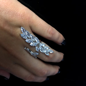 Crystal Collection Tear Drop Ring