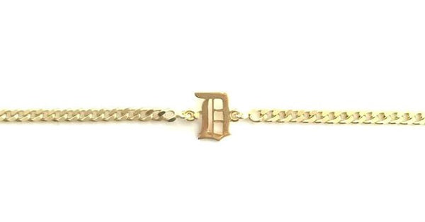 Old English Initial CURB CHOKER