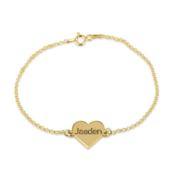 Dainty Heart Name Bracelet