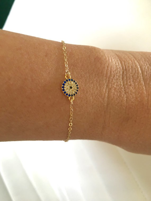 Paved Evil Eye Bracelet