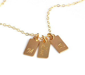 Custom Tag Necklace -  Version 1