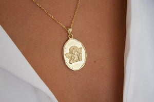 Cherub Pendant Necklace
