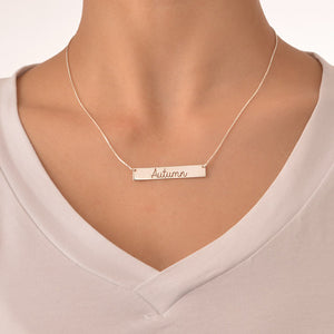 Cut-Out Name and Heart Necklace
