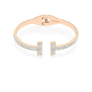 Open CZ Bar Bangle