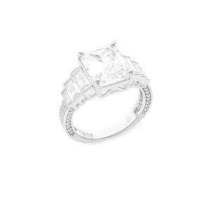 CZ Seven-Stone Cushion Ring