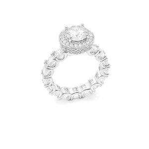 CZ Eternity Round Halo Ring
