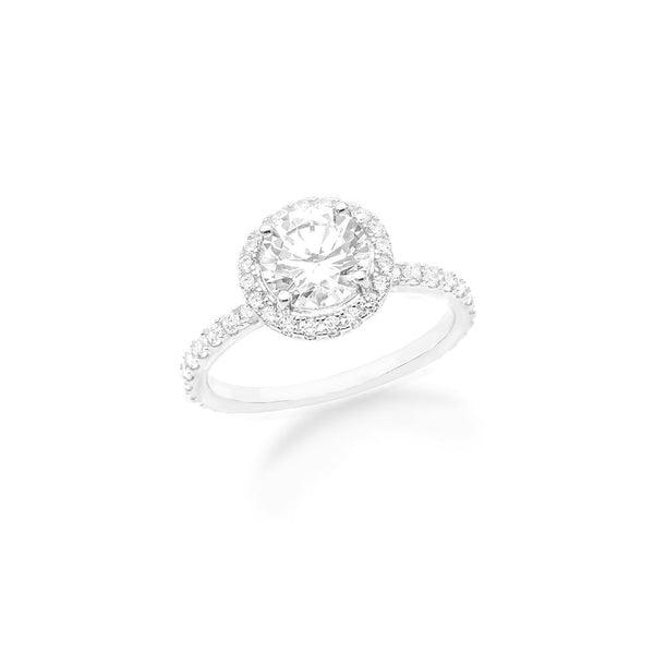CZ Simple Round Halo Ring