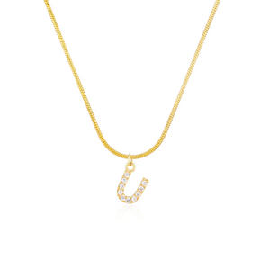 CZ Initial Snake Chain