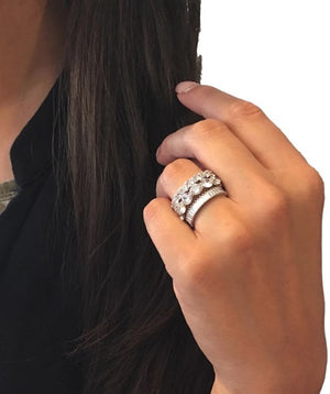 CZ Baguette Ring Style 3
