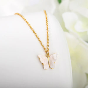 butterfly necklace, butterfly jewelry, gold jewelry, spring necklace