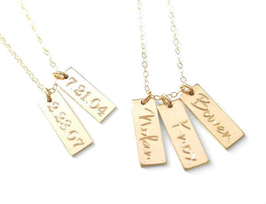Custom Tag Necklace - Version 2